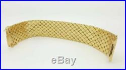 Estate Vintage 18k Rose Yellow Gold Heavy Thick Wide Designer Ladies Bracelet