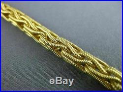 Estate Wide 14kt Yellow Gold 3d Classic Italian Circular Mesh Bracelet #22716