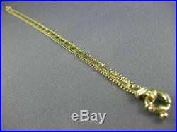 Estate Wide & Long 14k Yellow Gold Handcrafted Diamond Cut Toggle Bracelet 26016