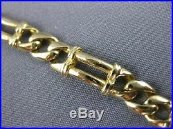 Estate Wide & Long 14kt Yellow Gold Fancy Link Italian Women Bracelet #22859