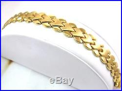 Heavy Stampato 1/2 Wide Designer 14k Gold Gorgeous Link Bracelet 17.7g