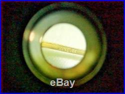 Heavy Wide Rine 14k Yellow Gold Diamond Cut Flower Bangle Bracelet 6 1/2 8.94g