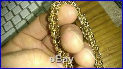 Heavy solid quality 14K gold 12.5mm wide bracelet 28.25 grams 7.25 long