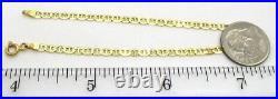 ITALY 14K Yellow Gold Bracelet 2.23 grams 6 3/4 long 2.86 mm wide