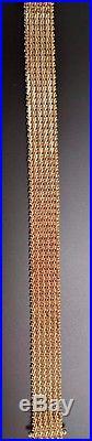 Imperial Gold 7 14kt Wheat Bracelet 1/2 wide 35 Grams of Slinky Silky Gold