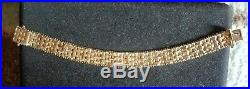 Imperial Gold Heavy Wide Yellow Basket Weave Bracelet 31.5 Grams