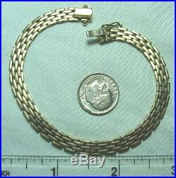 Italy 14K Gold Mesh Link Bracelet 12.6 grams 7 1/2 long 1/4 wide