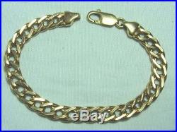 Italy 14K Yellow Gold Bracelet 11.2 grams 7 1/4 long 1/4 wide