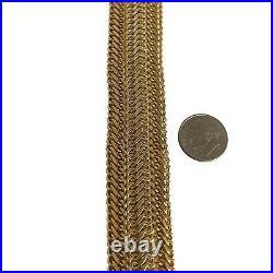 Itaor 14k Yellow Gold 23.4g Ladies Wide Fancy Curb Link Bracelet Italy 7.25