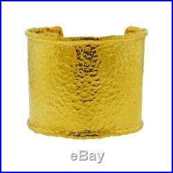 Jean Mahie 22k Gold Wide Cuff Bracelet