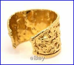 Jean Mahie 22k Wide Cuff Bracelet