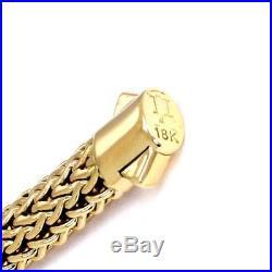 John Hardy 18k Yellow Gold 7.5mm Wide Wheat Woven Bracelet