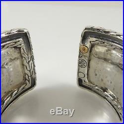 John Hardy Sterling Silver 22k 40mm Wide Palu Cuff Bracelet