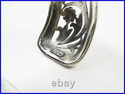 KONSTANTINO Sterling Silver 18K Gold Chalcedony Cabochons Wide Ciff Bracelet