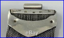 Konstantino 18K Gold Sterling Silver Garnet Wide Bracelet 7 (71.8 Grams)