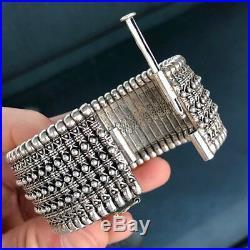 Konstantino 18k & Silver Wide Bracelet Large 165grams 7 Inch