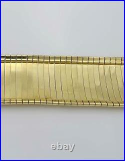LADIES 585 14k YELLOW GOLD MESH WIDE SNAKE LINK BRACELET 28mm 47.7g 7 1/4