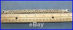 L@@K Fabulous design Real 14k Yellow Gold 10mm wide Men's Bracelet 8 heavy ITAL