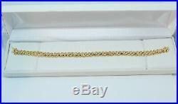 Ladies 14K Solid Yellow Gold, 10.4 Grams, 6MM Wide, 7.25 Bracelet