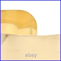 Ladies 14k Yellow Gold 25mm WIDE CUFF Bangle Estate Bracelet 29 Grams 1