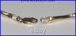 MAGNIFICENT ESTATE 14K TWO TONE GOLD 7 inch LADIES LINK BRACELET 5 mm WIDE