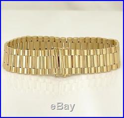 MENS 14k YELLOW GOLD SOLID WIDE JUBILEE LINK BRACELET 40.5g 15.8mm 8 1/4