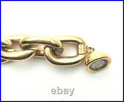 MILOR Brand Solid 14K Yellow Gold Puff Chain Link Bracelet 1/2 in Wide 13.2 grm