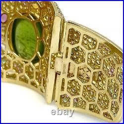 Margot McKinney Large Multi-Gem Wide Bracelet Cuff in 18k Yellow Gold -HM2179SA