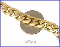 Men's Estate 18K 750 Yellow Gold 9mm Wide Cuban Link Chain 8.50 Bracelet 71.9gr