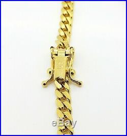 Men's Miami Cuban Solid 14K Italian Yellow Gold Bracelet 8 4 mm wide