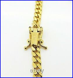 Men's Miami Cuban Solid 14K Italian Yellow Gold Bracelet 8 7 mm wide