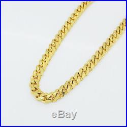Men's Miami Cuban Solid 14K Italian Yellow Gold Chain 22 5 mm wide