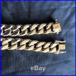 Mens 18K Rose Gold, 7.75 Cuban Link Bracelet 19.47 Grams 11mm Wide! 750 Gold