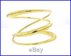 Michael Good 18k Gold Wide Twist Bangle Bracelet