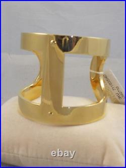 Michael Kors Goldtone HERITAGE MARITIME Wide Cuff Bracelet MKJ4443 710 $185