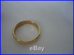 Milor Italy 14K Yellow Gold Resin 5/8 Wide Bangle Bracelet
