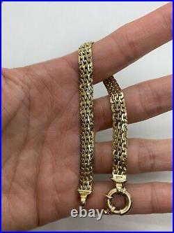 Milor Italy 14k yellow gold bracelet link chain 6.6g 7 6.5mm wide brick wavy