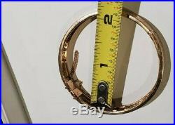 Ming's 19.2 grams 14k Solid Gold Bird & Flower unique design 10mm wide Bracelet