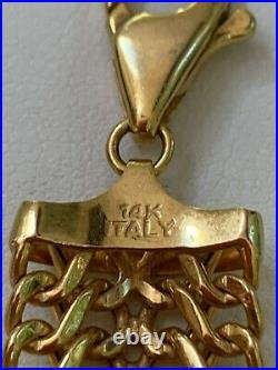 Mint 11.8 Gram Solid 14k Yellow Gold 7 Long, 3/4 Wide Infinity Link Bracelet