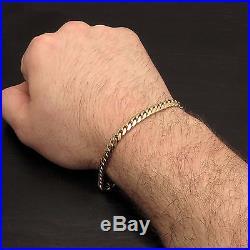 NEW 14k Solid Yellow Gold 9 Men's Miami Cuban Link Bracelet 6mm Wide