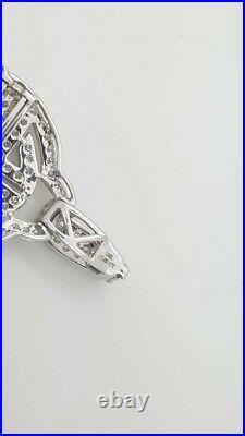 NEW 17.65 Ct 18K WHITE GOLD ROUND DIAMOND LADIES CLUSTER WIDE LARGE BRACELET 8.5
