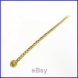 NYJEWEL Gianni Versace 18k Yellow Gold Medusa 7mm Wide Bracelet