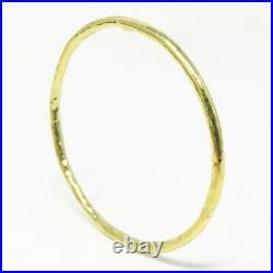 NYJEWEL Ippolita 18k Hammered Gold 3mm wide Bangle Bracelet