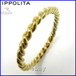NYJEWEL Ippolita 18k Yellow Gold 8mm Wide Twist Bangle Bracelet