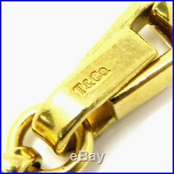 NYJEWEL Tiffany & Co. 18k Yellow Gold Italy 6.5mm wide Mens Heavy Bracelet