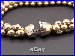 Nanis 14k Yellow Gold 8mm Wide Bead Ball Link Bracelet 7.5 inch