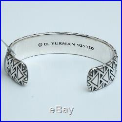 New DAVID YURMAN Men's 18mm Southwest Wide Cuff Bracelet Silver 18K Gold Medium