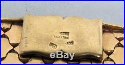 OUTSTANDING 1960's 18K SOLID GOLD 32mm WIDE 7 BRACELET