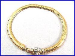 Omega Soft 7 Bracelet 14K Yellow 7.2gr Gold Vintage Italy 4.5mm wide