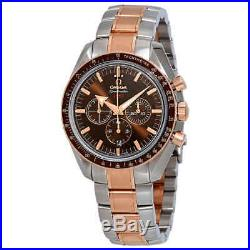 Omega Speedmaster Broad Arrow Chronograph Automatic Brown Dial Men's Watch